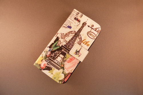 iPhone bookcase 6/6s Paris flower