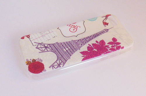 iPhone 5c back cover Paris flower