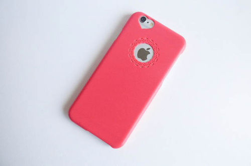 iPhone 6, 6S hardcover Fuchsia
