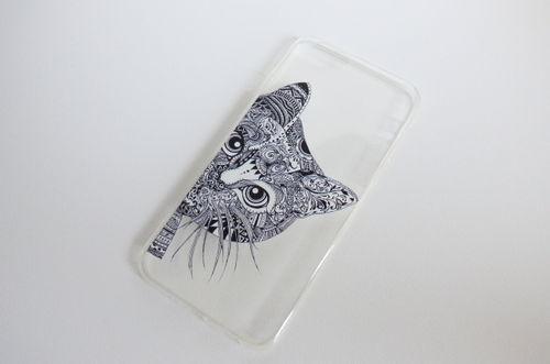 katten glitter telefoon hoesje iphone